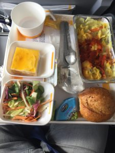 Essen im Flieger