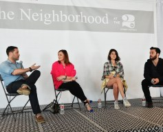 StyleCaster co-founder Ari Goldberg, Neiman Marcus VP of Corporate Public Relations Gabrielle de Papp, Leandra Medine of The Man Repeller blog, and StyleCaster co-founder David Goldberg
