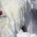The Frozen Beauty of Montmorency Falls