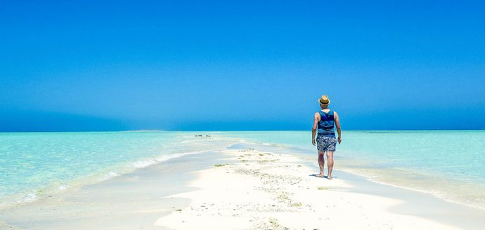 This Tiny White Beach Island is in Saudi Arabia.