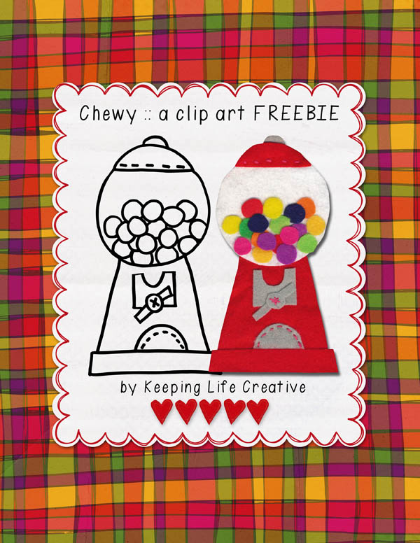 chewy:: a clip art freebie by Keeping Life Creative