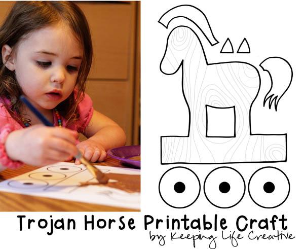 FREE Trojan Horse Printable Craft by Keeping Life Creative