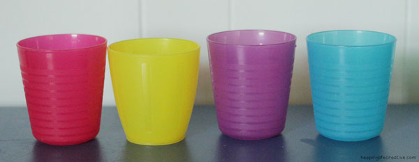 color-coded cups