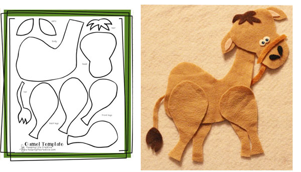 camel template and flannel board sample