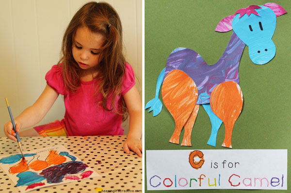 colorful camel craft