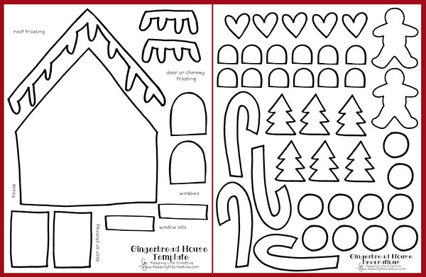 Impertinent image pertaining to gingerbread house printable