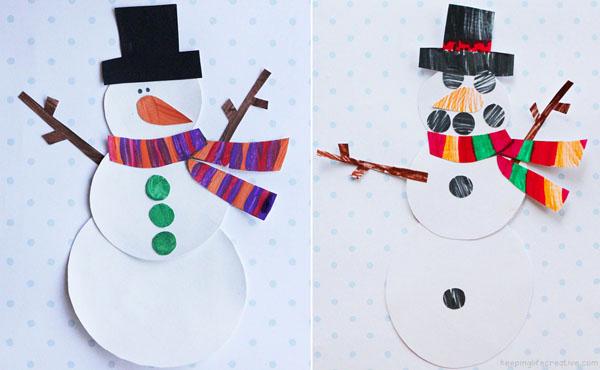 snowman art projects