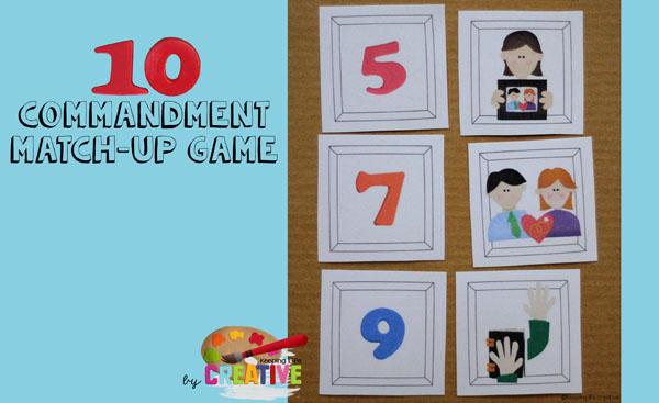 10 commandments matchup game by Keeping Life Creative
