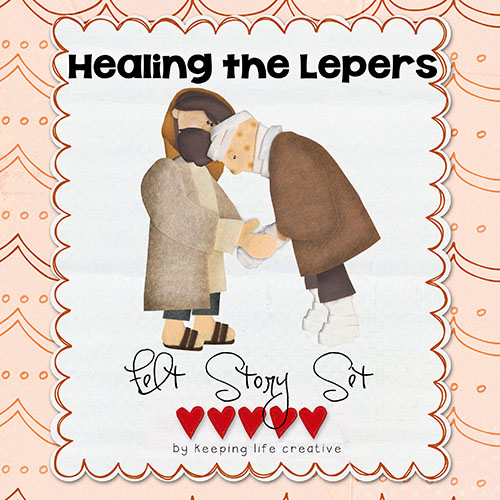 healing the 10 lepers printable story pieces