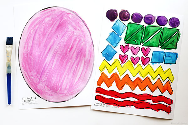 Printable Easter Egg Craft Template