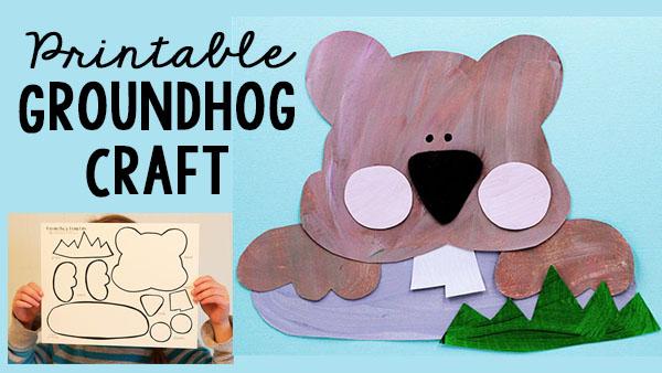 Groundhog Day Printable Craft for Kids