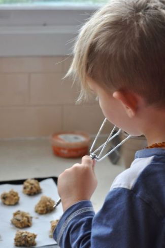 date and ginger biscuits licking the beater