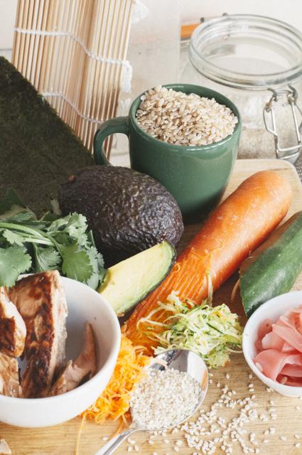 brown rice sushi ingredients