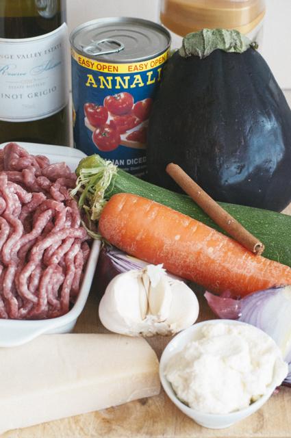 moussaka ingredients