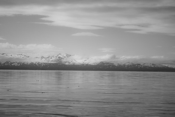 Mountains across the bay.