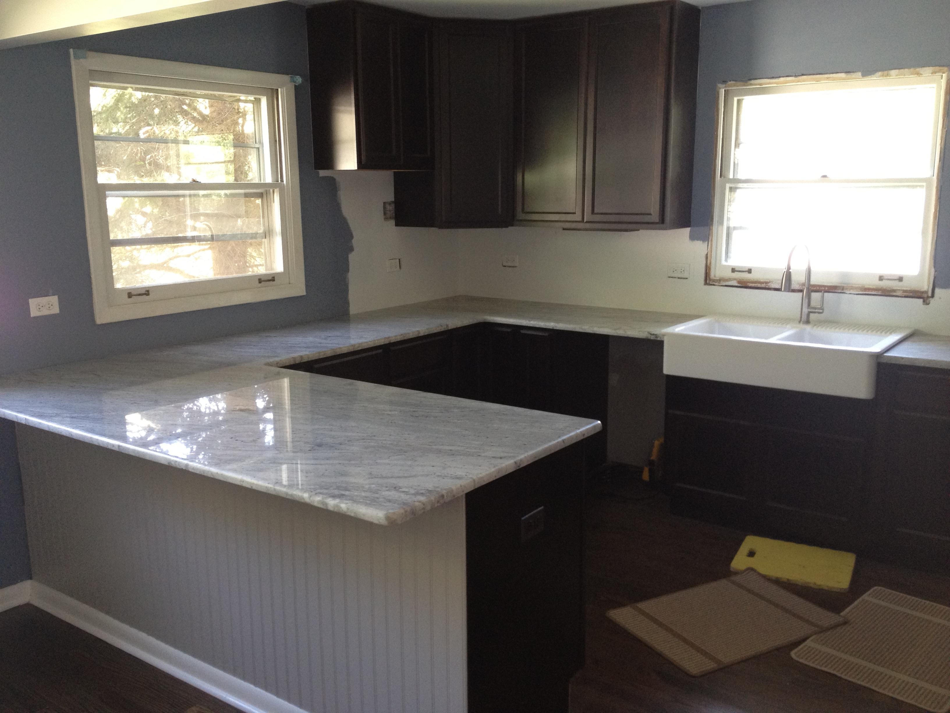 white kitchen cabinets grey granite countertops kitchen cabinets and countertops Granite Countertops