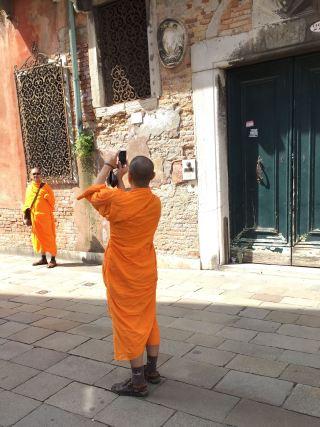 photo happy monks