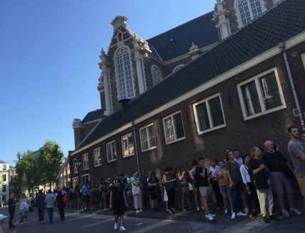 Part of the line at Anne Frank House