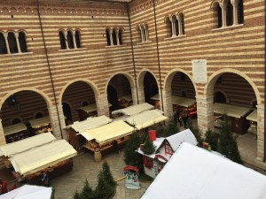 View down to the Christmas market from the Palazzo