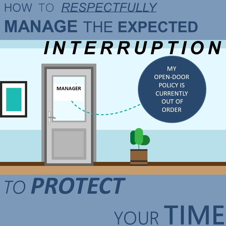 Time Management – How to Respectfully Manage the Expected Interruption