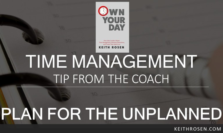 PLAN for the UNPLANNED To Take Control of your Day and Your Life