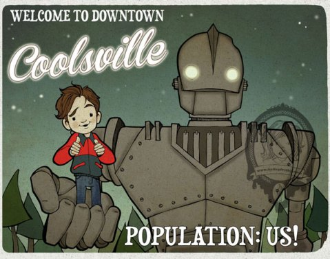 "Kelley Frisby Fan Art for the Iron Giant Show ""Downtown Coolsville"""