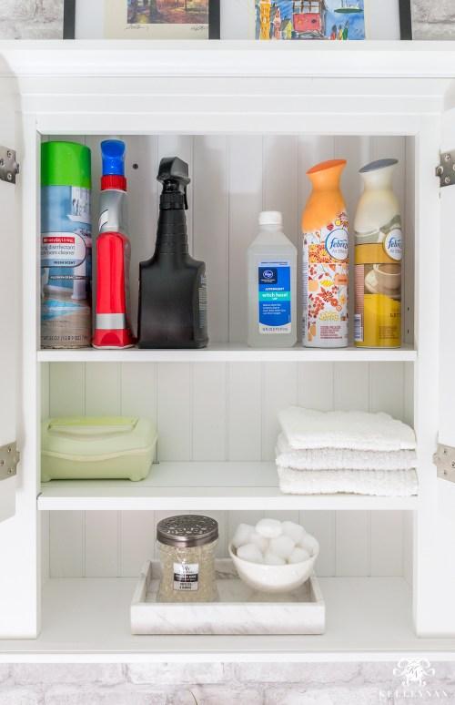 Medium Of Bathroom Shelving Solutions
