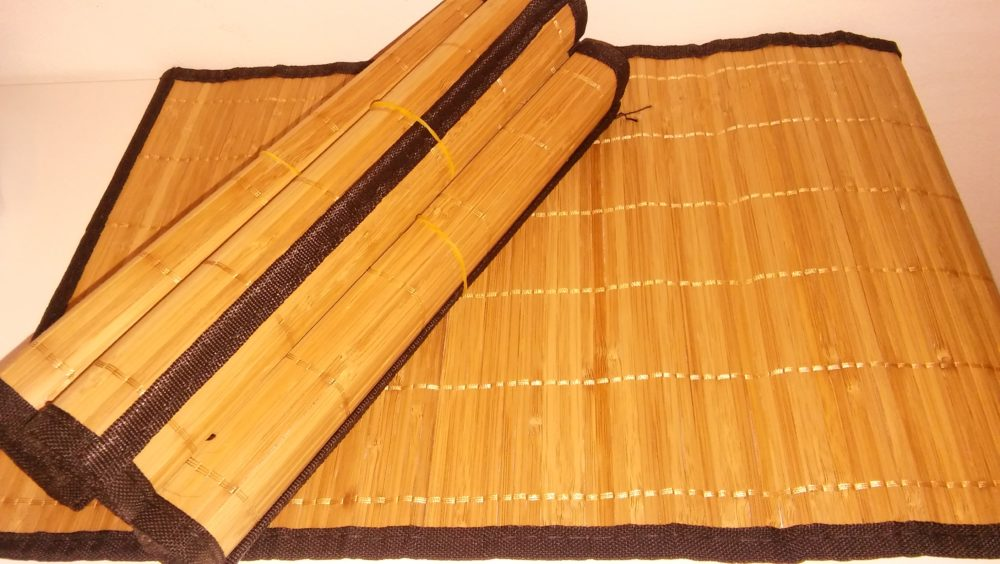 Make your table look great with bamboo placemats kellys for Making bamboo things
