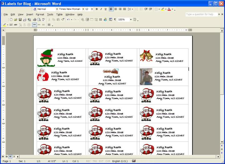 download free microsoft templates christmas mailing labels