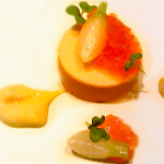 Monfish Liver Torchon with Persimmon Benu