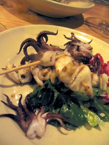 Grilled Squid Salad 225x300