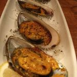 Baked Mussels with spicy aioli