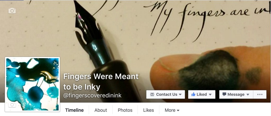 Visit me on Facebook at the Fingers Were Meant to be Inky Page