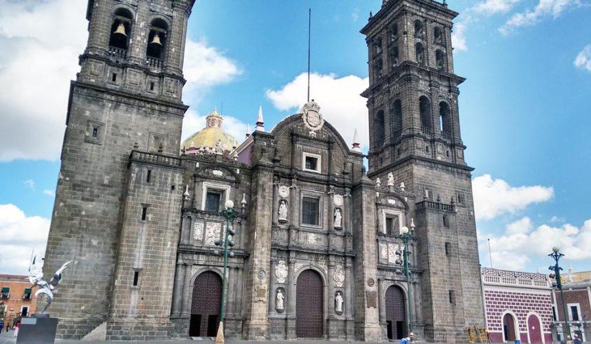 Catedral de Puebla en el centro