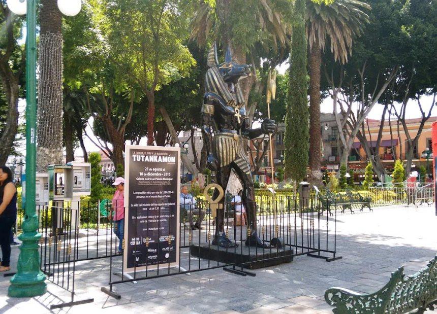 Publicidad para exposición de Tutankamon en Puebla, Puebla