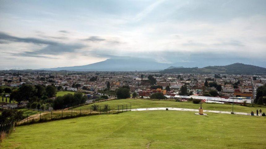 Vista desde la Gran Pirámide en San Pedro Cholula, Puebla