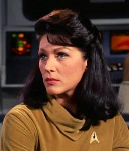 Majel Barrett as Number One in the original Star Trek pilot.