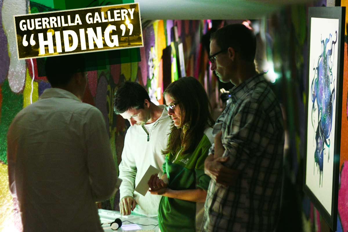 "Guerrilla Gallery: ""Hiding"""