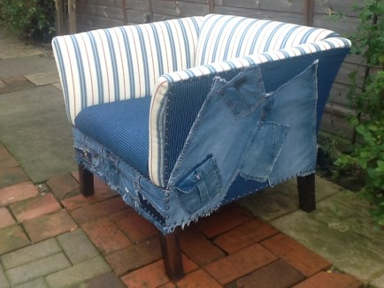 Chair Denim Stripe 2