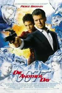 Die Another Day Movie Poster - James Bond (Pierce Brosnan) and Giacinta 'Jinx' Johnson (Halle Berry) pointing guns