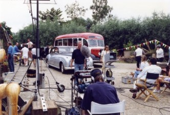 Beind the scenes shot of Coach And Grey Rolls