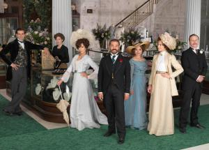 Mr Selfridge in the department store with his peers