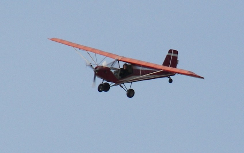 Evert's ultralight in the air