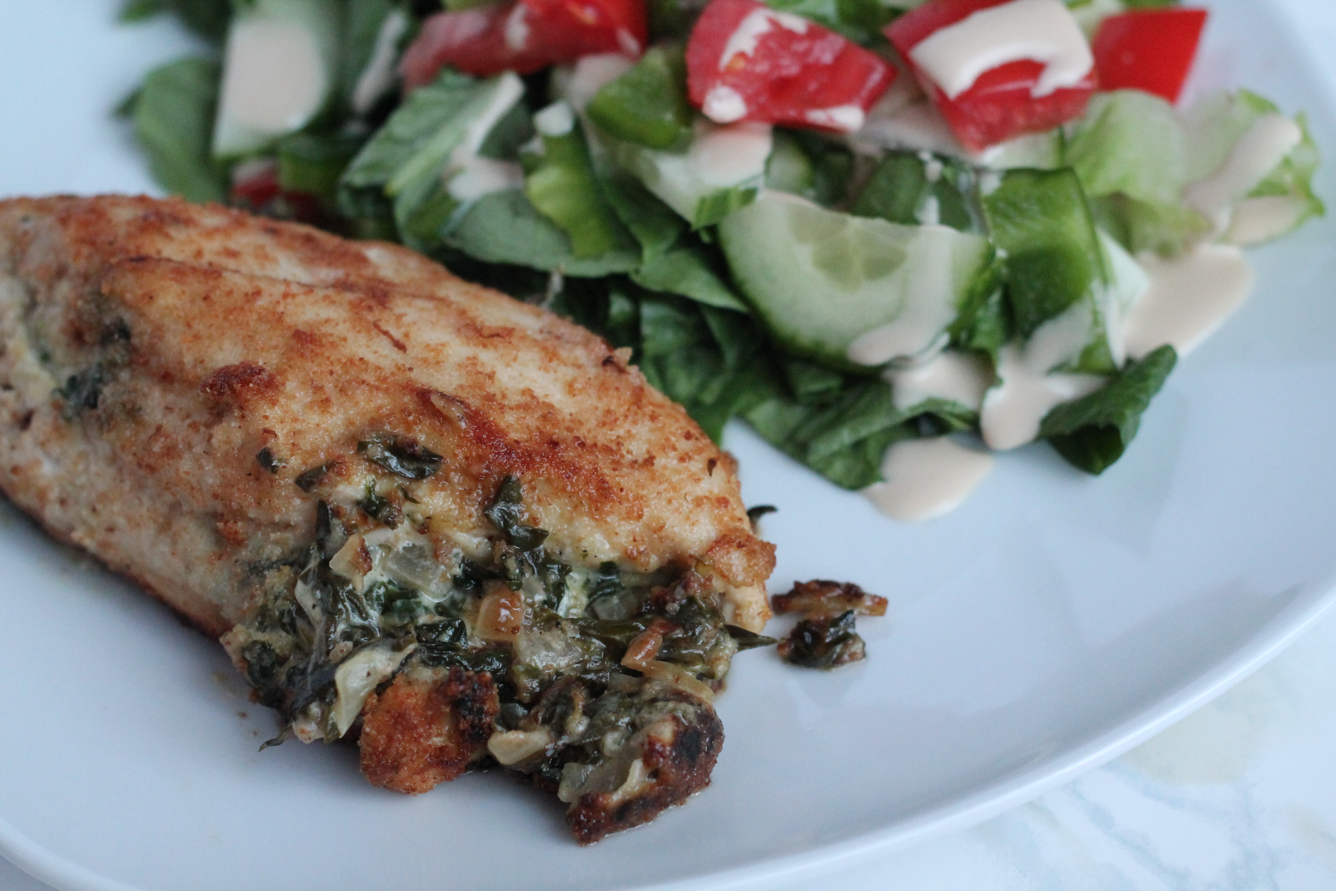 ... Caramelized onions, goat cheese and my favourite veggie – spinach