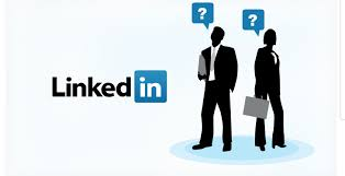 The two people in this LinkedIn logos with question marks over their heads are trying to figure out a use for LinkedIn other than inviting colleagues or accepting their invitations.