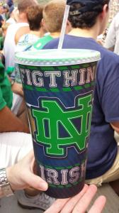 I hope Notre Dame didn't order a quarter of a million of these cups.