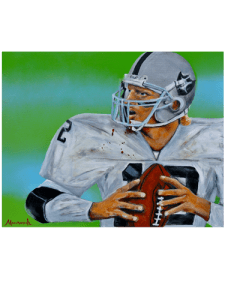 What took Todd Marinovich from stud quarterback to artist who painted this self-portrait is a story Johnny Manziel should hear.