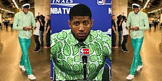 I hope Paul George wears this ensemble at 11a today when his new max deal is announced.