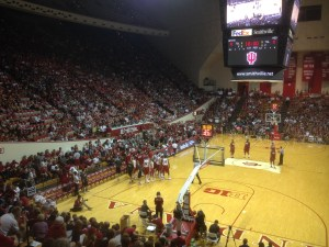 First big crowd of the year at Assembly Hall for Hoosier Hysteria.