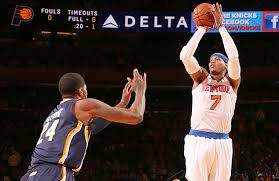 Carmelo is going to get his tonight, but the Knicks are unlikely to get their's tonight against the Pacers.